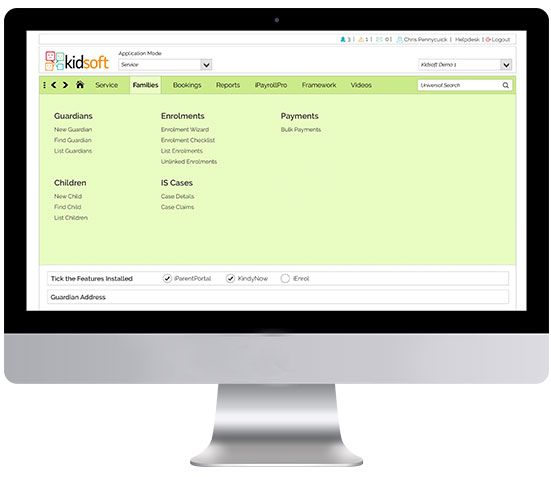 CCMS software features