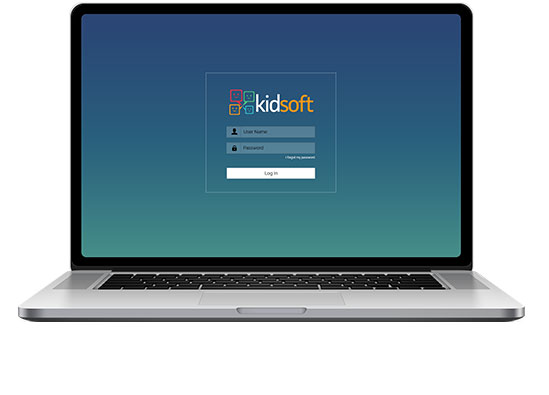 Kidsoft login page