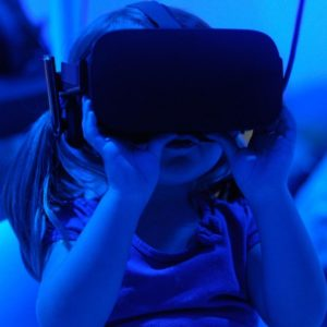 Child with VR googles
